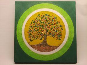 druidský strom života piesok mandala