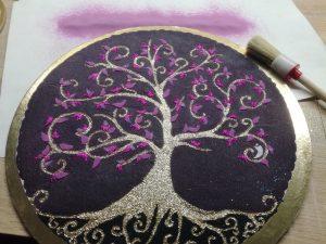 dokoncenie strom zivota mandala