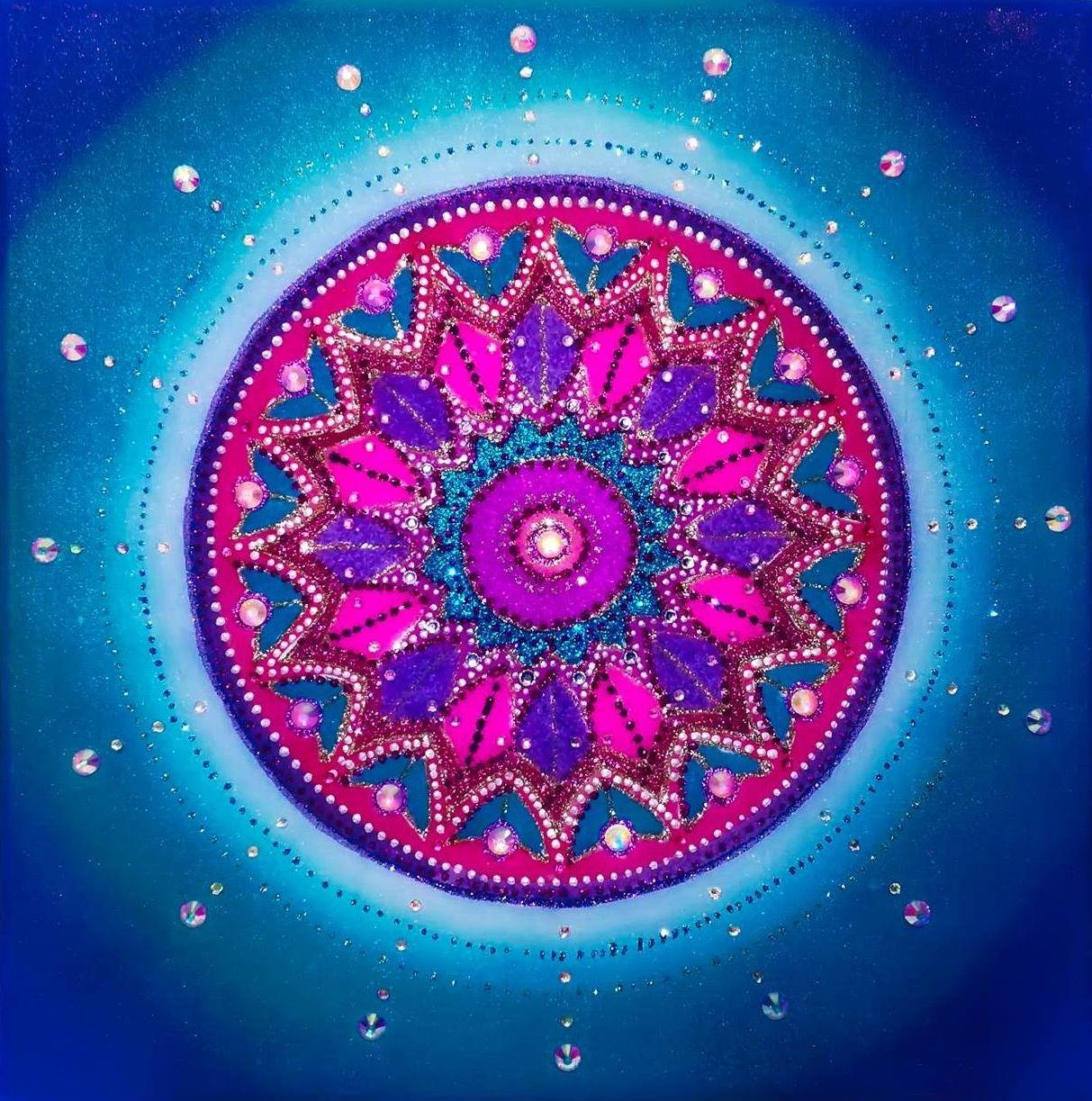mandala krásna modrá mandalarium slávka andrášiková