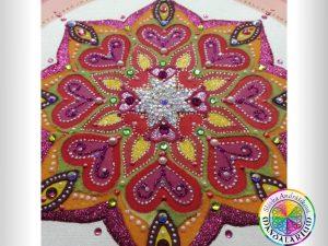 úžasná čarovná mandala kvetu a ja piesková mandala