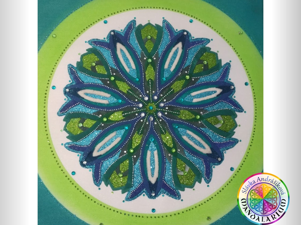 životná cesta krásna kvetinka zvonček piesková mandala ako darček eshop