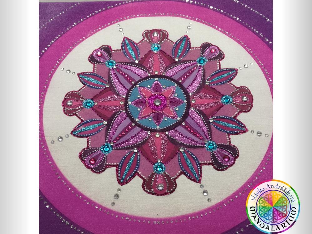 cena pieskovej mandaly podmienka a doprava violet mandala