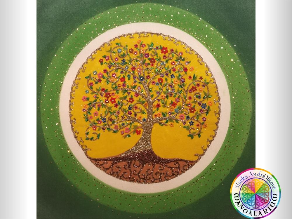 druidský strom života druid mandala piesková