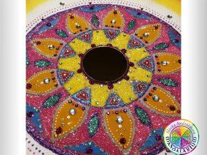 farebná piesková mandala z tibetu originál mandaly