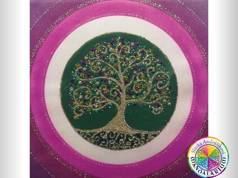 keltský strom života druid piesková mandala stromu života