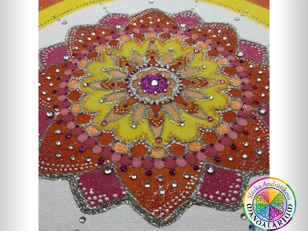 kvety a mandala mandala s kvetovým vzorom mandalarium piesková mandala