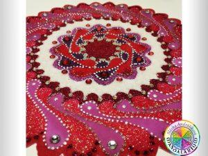 mandala lásky red piesková mandala pre zaľubených na valentína