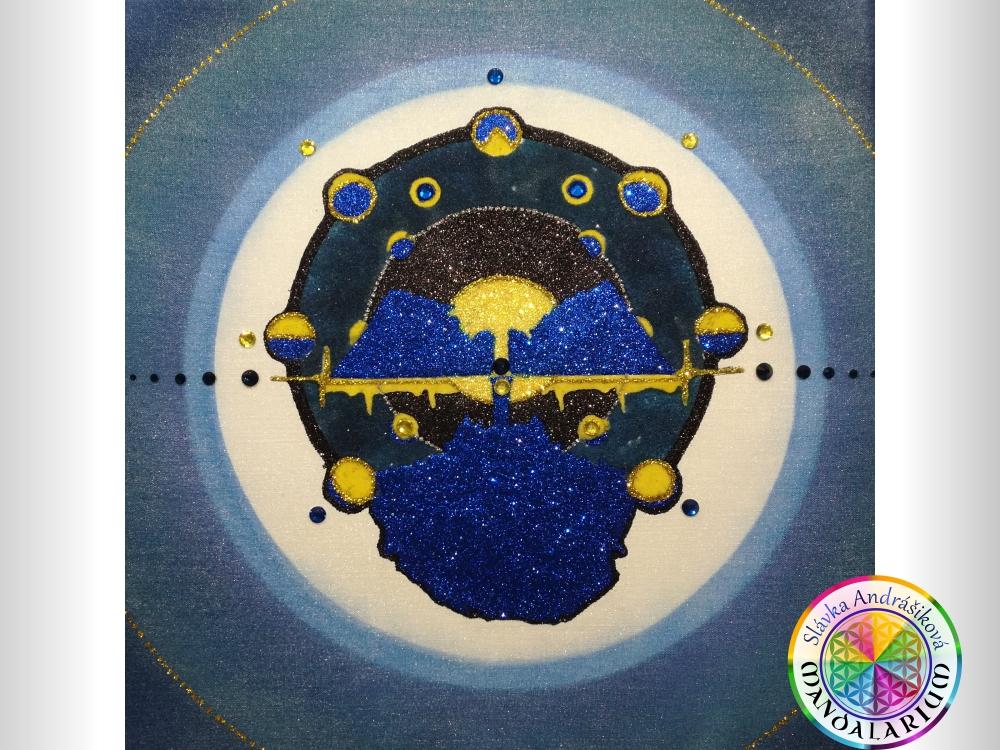 mandala podla dátumu narodenia pirátska zátoka piesková mandala blue gold