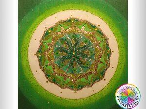 mandala podla mena green circle piesková mandala