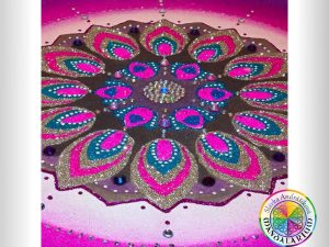 mandala podla znamenia violet red blue kruh piesková mandala
