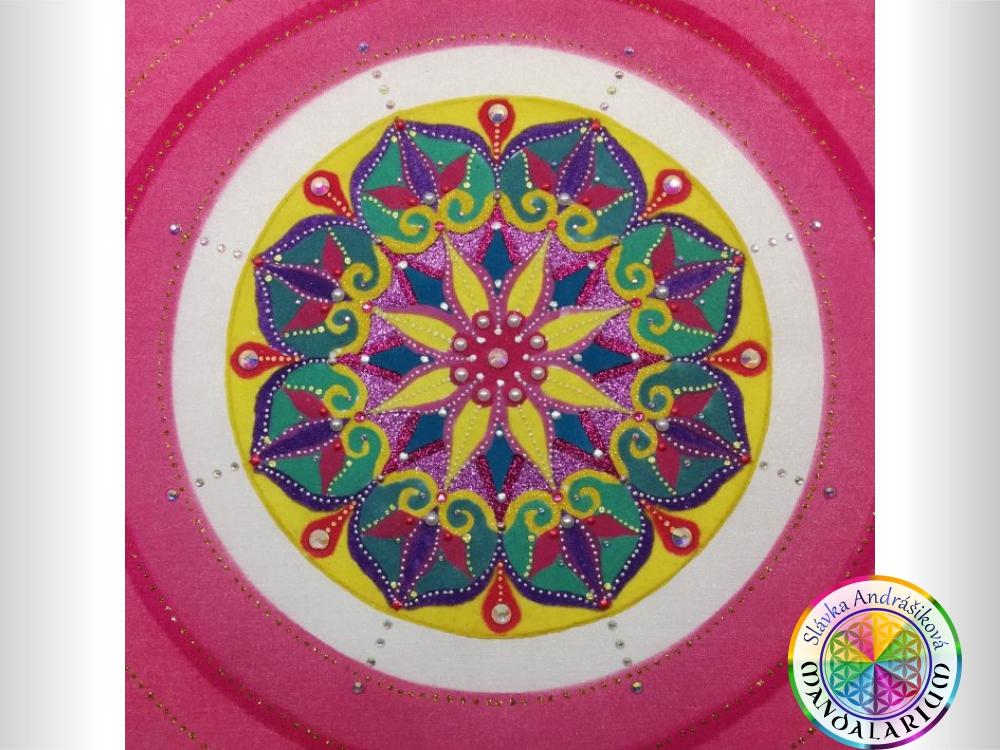 obraz vlastnej duše rose flower pieskova mandala