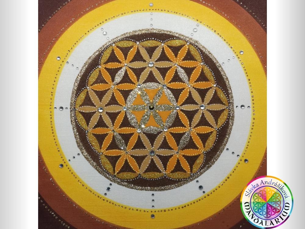 okrúhla kruhová mandla hnedý vzorec piesková