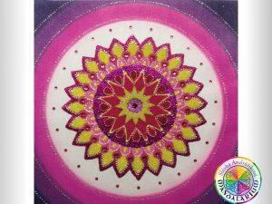 osobné mandaly fialová ružová piesková mandala na mieru