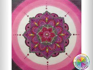 posvätný kruh piesková mandala kvet slávka andrášiková
