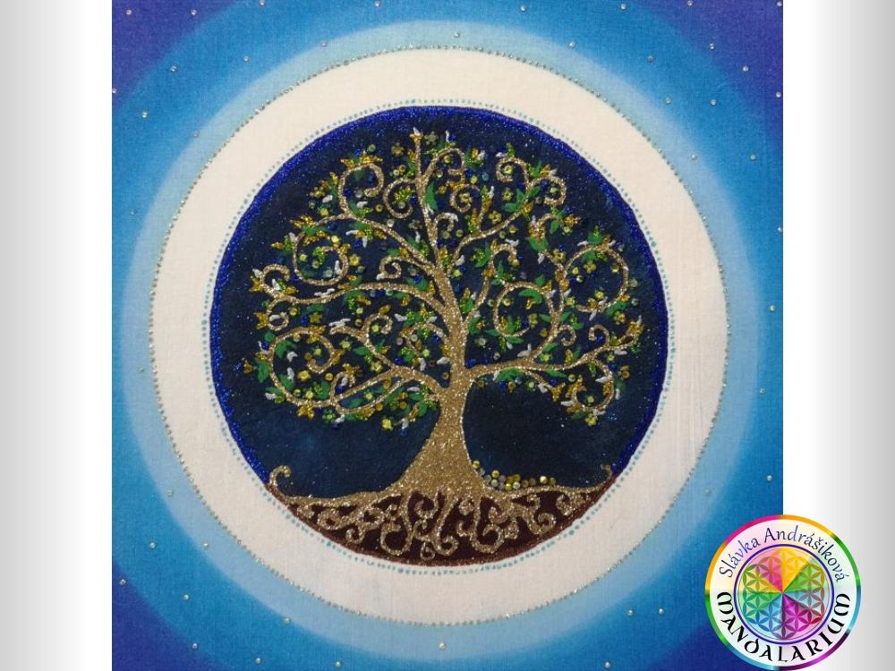 strom života ako mandala piesková mandala stromu druid