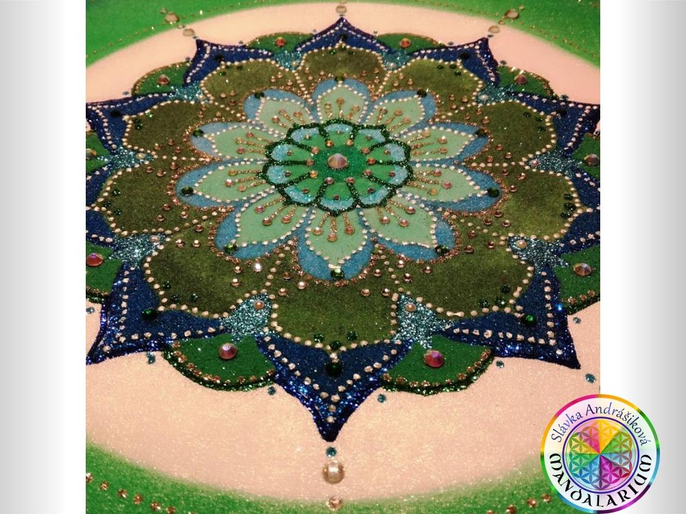 zhmotnená energia mandaly piesková mandala